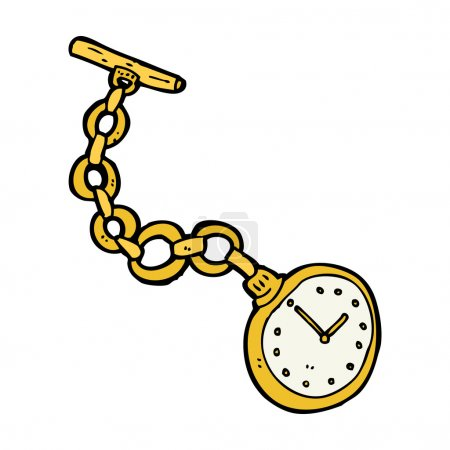cartoon old pocket watch