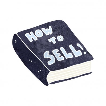 cartoon how to sell book