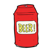 Kreslený pivo může