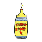 Kreslený energetický nápoj