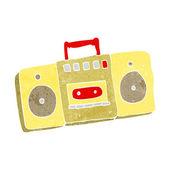 Kreslený rádio kazetový přehrávač