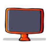 Cartoon computer screen