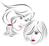 beautiful girl in the face design elements colorful illustration