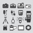 Photography camera lens and accessories set vector...