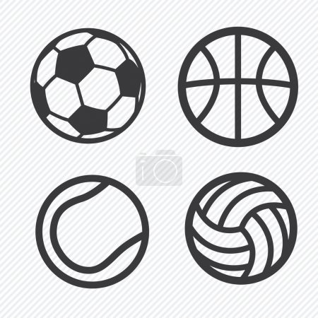 Ball icons set  illustration eps10