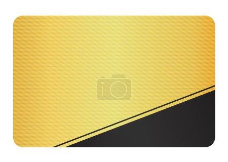 Photo pour Carte VIP or avec motif moderne et équerre noire - image libre de droit