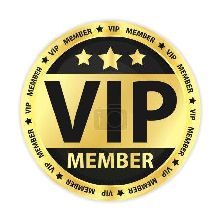 Photo pour Étiquette de membre or VIP avec étoiles - image libre de droit