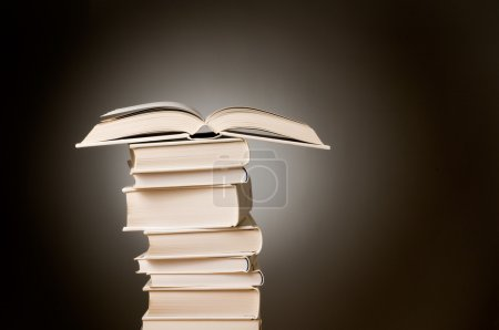 Open book on a stack