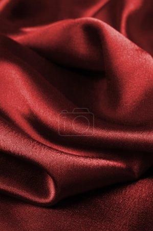 Red silk cloth detail