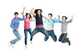 saut heureux jeune joie