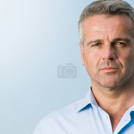 Photo for Close up portrait of serious mature businessman outdoor - Royalty Free Image