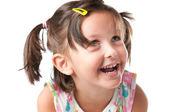 Joyful litle girl portrait