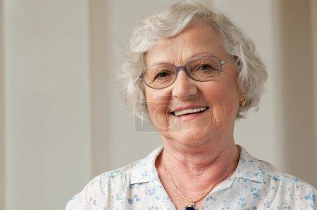 Smiling senior woman closeup