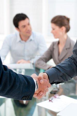 Handshake close up