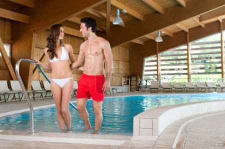 Wellness at spa pool