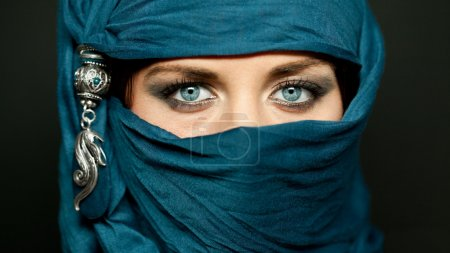 Arabic girl glance