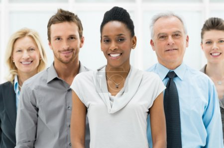 Photo for Happy smiling multi ethnic business team in office - Royalty Free Image
