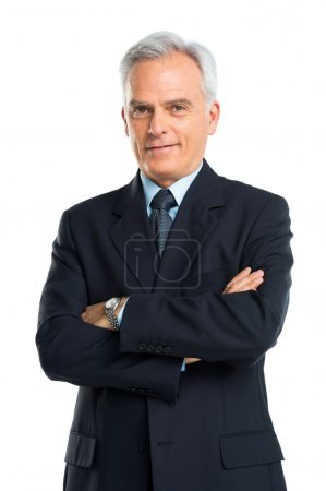 Photo for Senior Businessman Isolated On White Background - Royalty Free Image