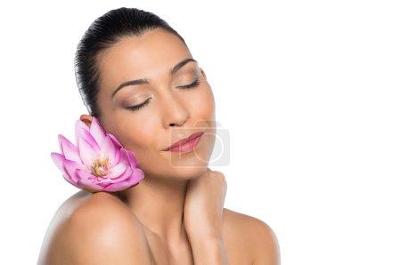Beauty Portrait With Flower