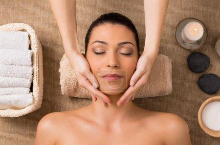 Facial Massage At Spa