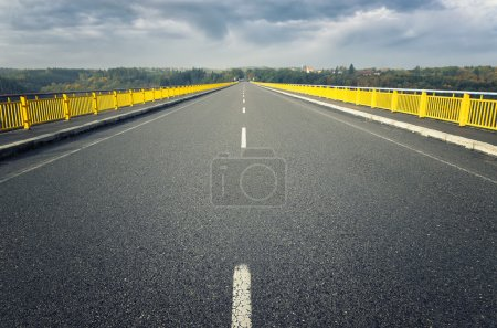 Photo for View from the bridge to the dam - Royalty Free Image