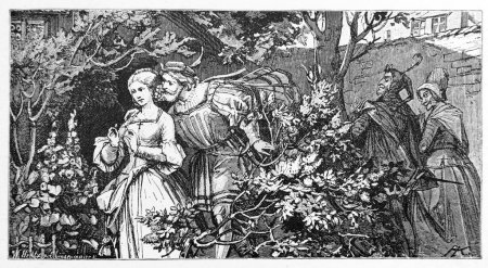 Goethe Faust: Faust and Gretchen in the garden