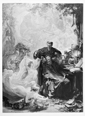 diabeł mephisto jest uroczy faust