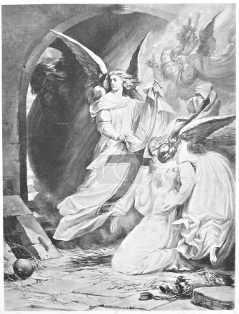 Classic illustration: Gretchen is saved by angels