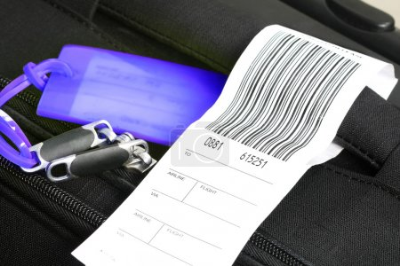 Traveling luggage with check-in label