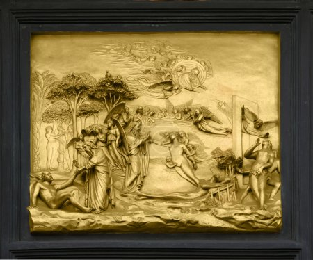 Photo for Adam and Eve - bas-relief on Gates of Paradise, Florence - Royalty Free Image