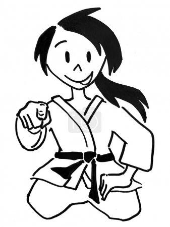 A judo girl