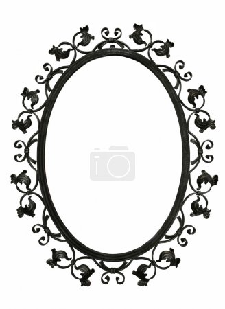 Antique iron mirror