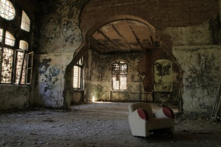 Photo for Interior from the famous abandoned Hospital Complex in Beelitz, Berlin, Germany - Royalty Free Image