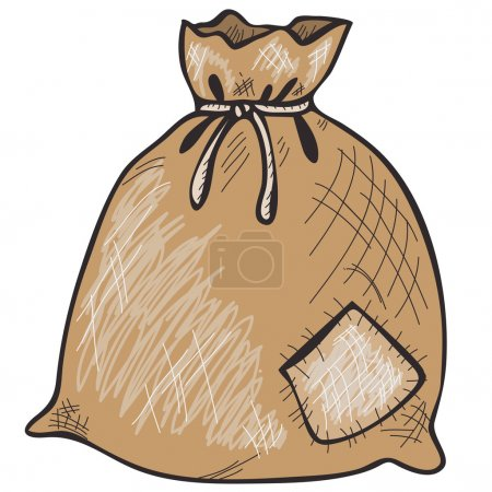 Hand drawn sack