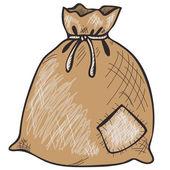 Hand drawn sack