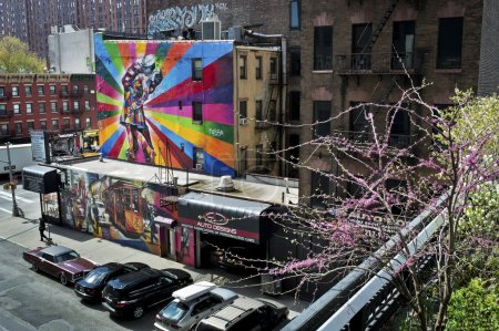 Photo for Beautiful murals can be seen from The High Line Park in Manhattan. - Royalty Free Image