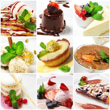 Photo pour Collage de neuf photographies de dessert - image libre de droit