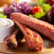 Smoked Ribs, Smoked Chicken Wings and Salsa Sauce...