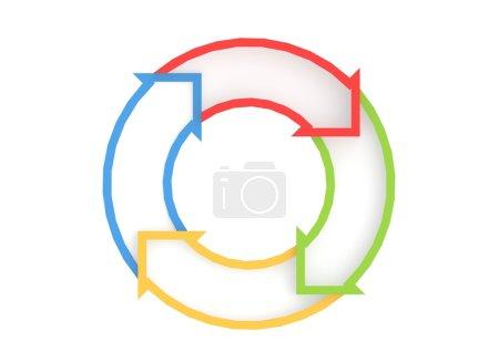 Foto de Imagen de las flechas de círculo con alta resolución ilustraciones 3d prestados que podrían ser utilizados para cualquier diseño gráfico. - Imagen libre de derechos