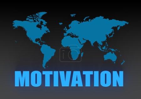 Photo pour Image du monde motivation avec des illustrations de rendu 3d haute résolution qui pourraient être utilisée pour n'importe quelle conception graphique. - image libre de droit