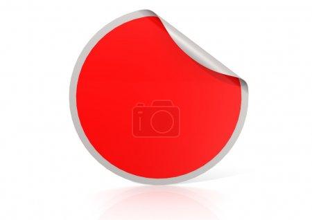 Photo pour Rouge rond image autocollant avec des illustrations de rendu haute résolution qui pourraient être utilisée pour n'importe quelle conception graphique. - image libre de droit