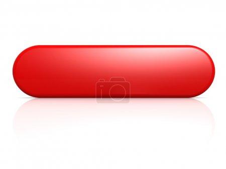 Photo pour Image à bouton rouge avec des œuvres d'art rendues haute résolution pouvant être utilisées pour n'importe quelle conception graphique . - image libre de droit