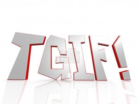 Photo pour Image mot TGIF avec haute résolution rendu artwork qui pourrait être utilisé pour toute conception graphique . - image libre de droit