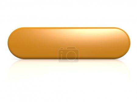 Photo pour Image à bouton orange avec des œuvres d'art rendues haute résolution pouvant être utilisées pour n'importe quel design graphique . - image libre de droit