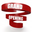 Grand opening red helix banner...