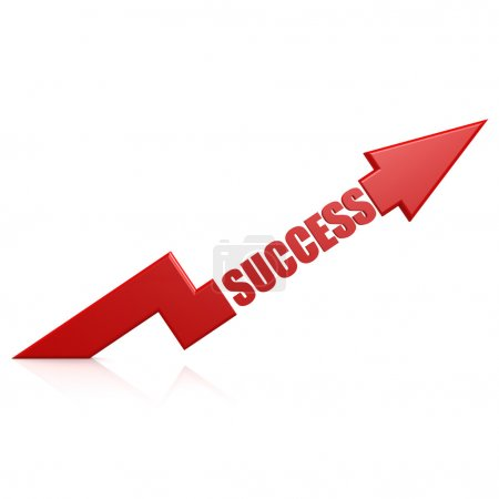 Photo for Success arrow up red - Royalty Free Image