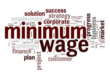 Foto de Nube de palabras de salario mínimo - Imagen libre de derechos