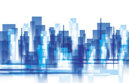 Illustration for City lanscape vector - Royalty Free Image