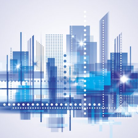 Illustration for Abstract cityscape background vector - Royalty Free Image