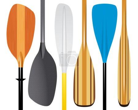 Set of paddles